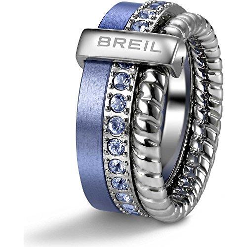 Anello BREIL Breilogy Torsion Argento Celeste 16 - TJ1718