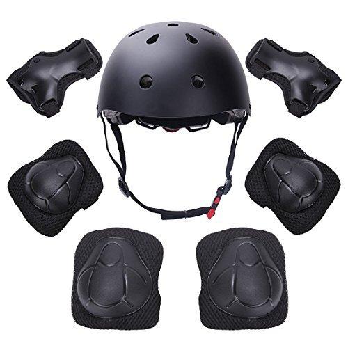 Yacool Kinder Protektoren Set Schutzset Kinder Sport Schutzausrüstung mit Helm Ellenbogenschoner Knieschoner Handgelenkschoner für Scooter,Skateboard,Radfahren,Reiten,Fahrrad,Outdoor Sports
