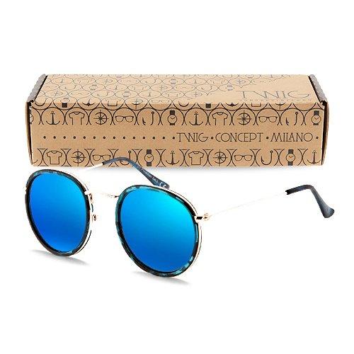 lunettes-de-soleil-twig-rembrandt-homme-femme-rondes-miroir-vintage-retro-tortue-bleu-bleu