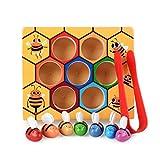 Lyguy Bienenwaben-Puzzlespiel-Spielzeug, Baby-Kind-hölzerne lehnende pädagogische Spielzeug-fleißige Bienenstock-Spiele für Kinder befestigen Spielwaren