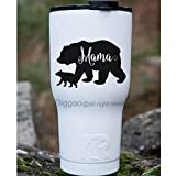 ymot101 Mama Bear Vinyl Decal Yeti Decal Tumbler Wall Sticker Rustic Decor (Black,3.5 H X 5 W)