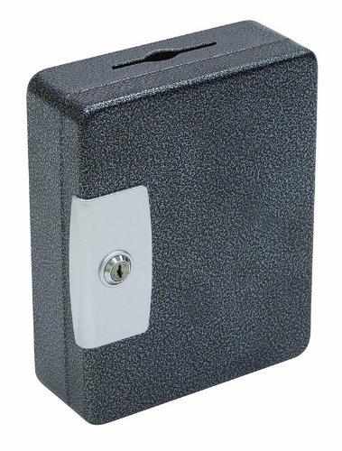Hercules kk0803–32Schlüssel Sicherung Schlüsselkasten, 32Schlüssel, 20,3x 7,6x 25,1cm Stahl, silber Vein, 32 Key, Schwarz, 1