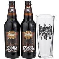 Peaky Blinder Black IPA Gift Pack, 2 x 500ml Bottles and Pint Glass