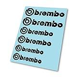 GraphicFX Brembo Logo Hi Temp Stickers pour étrier de frein