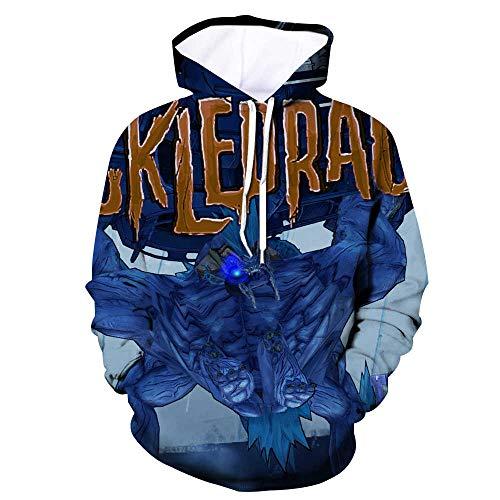 ck Hoodie Kapuzenpullover Langarm Sweatshirt Kapuzenjacke Mit Tunnelzug Pullover Taschen Top Shirt Weihnachten Herbst Borderlands XXL ()