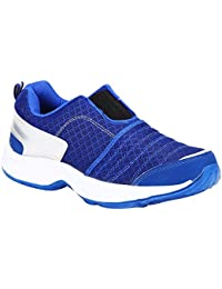 Bng Sports Shoes MS-19-R-BLUE-SILVER Synthetic Leather