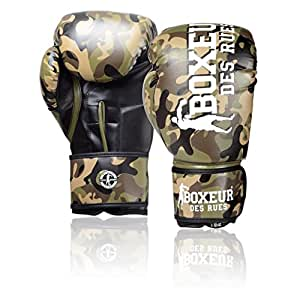 Street Fighter Fight Boxing Gloves Activewear Brown camouflage Size:10 OZ