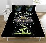 Rick und Morty UFO Bettwäsche-Set, Polyester-, mehrfarbig, doppelt