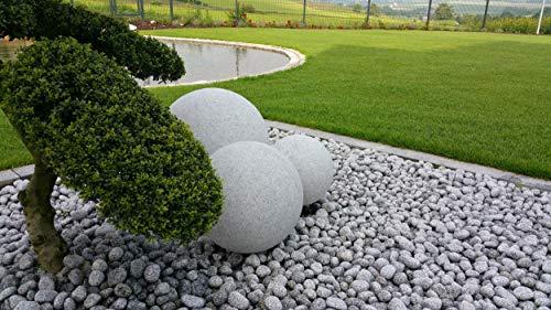 Trango IP65 Gartenkugel in Granit-Optik 20cm Ø inkl. 5m Outdoorkabel - 3
