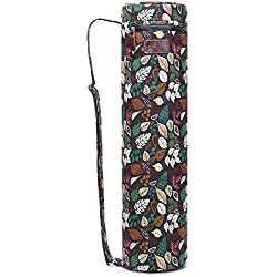 Fremous Yoga Mat Bag and Carriers for Women and Men - Bolsillos de Almacenamiento multifunción portátiles de Lona Yoga, Leaves