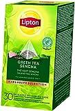 Lipton grüner Tee Sencha Pyramid aromatischer Teebeutel (langblättriger Tee) (30 Teebeutel x 1,8g)