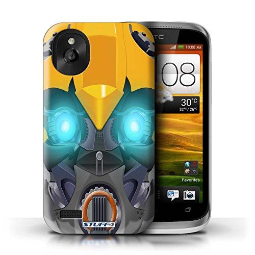 Coque de Stuff4 / Coque pour Apple iPhone 4/4S / Bumble-Bot Violet Design / Robots Collection Bumble-Bot Jaune