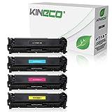 4 Kineco Toner kompatibel zu HP CF380X CF381A CF382A CF383A LaserJet Pro MFP M470 Series M476 DN DW NW - Schwarz 4.400 Seiten, Color je 2.700 Seiten