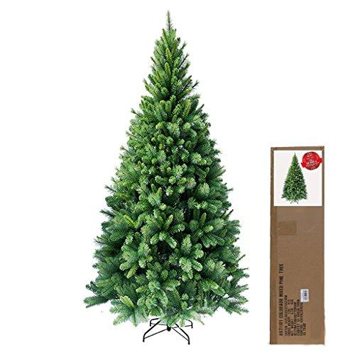 180 cm ca. 824 Spitzen hochwertiger künstlicher Weihnachtsbaum mit Metallständer, Minutenschneller Aufbau mit Klappsystem, schwer entflammbar, HXT 1101