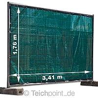 schwer entflammbar B1 schwarz 1,76 m x 3,41 m Euro Planen Bauzaunplane Bauzaunblende