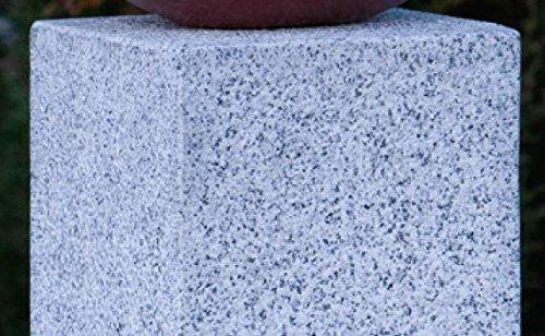 Rottenecker Steinsäule, Skulpturen, Stele Granit grau für Feuerschale 100 cm hoch
