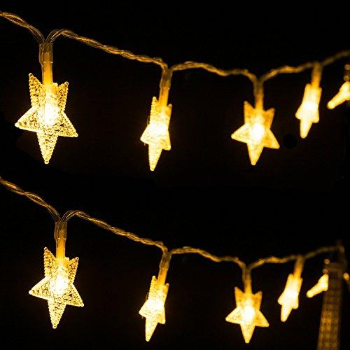 Weihnachtsbeleuchtung Led Batterie.Led Lichterkette Innen Weihnachtsbeleuchtung 40 Led Batterie Warmweiß Garten Balkon Party