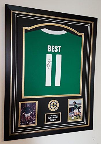 GERORGE-BEST-Northern-Ireland-Signed-Shirt-AFTAL-DEALER-Certificate