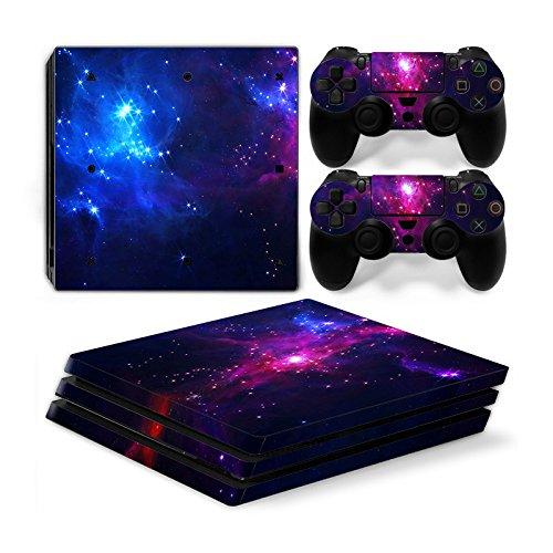 Funky Planet Playstation 4Pro PS4Pro Skin Aufkleber PVC für Konsole & Pads, Pratzen, Anpassung Ihr PS4Pro PS4 Pro Galaxy Galaxy Skin