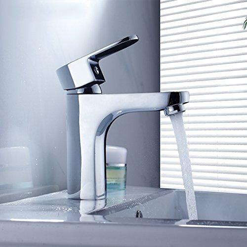 Tous Copper Basin eau du robinet Single Hole Hot And Cold Wash Basin Faucet Bathroom Faucet Bassin de comptoir