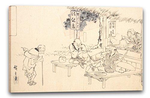 Printed Paintings Impresión Sobre Lienzo (120x80cm): Utagawa Hiroshige - Los Famosos Jokers práct