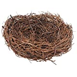 1 Stück Handgemachte Vogelnest Haus Garten Baum Handwerk Dekoration (8cm)