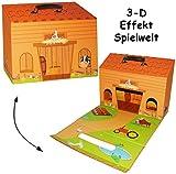 alles-meine.de GmbH Kinderkoffer -  Bauernhof / Stall  - Zum Spielen - Pappkoffer - Puppenkoffer..