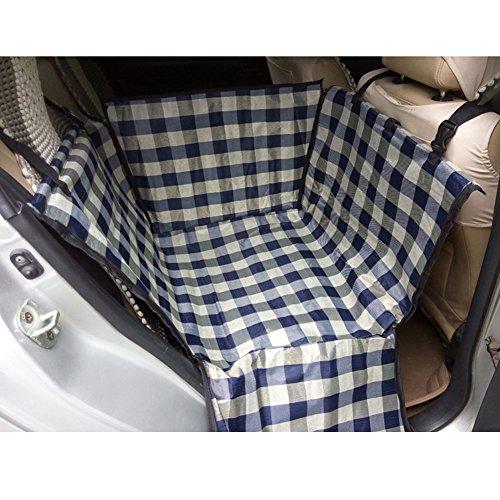 Wasserdichte Haustier-Auto-Sitzabdeckung Hundematte für Hinten Seat, Gitter (Katze, Fenster, Sitzbezug)