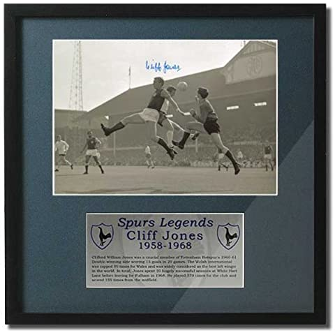 Cliff Jones signed hand Spurs Legends presentation. (PP233