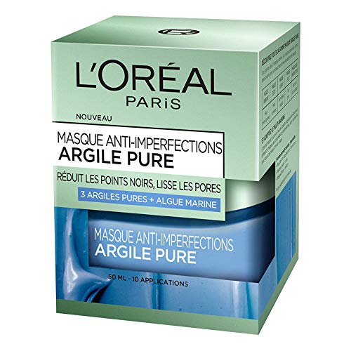 L'Oréal Paris - Masque anti-imperfections pour le visage - Argile pure - Anti-imperfections - 50 ml