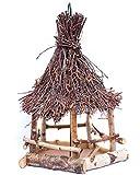 Rustikales, hochwertiges, handgefertigtes Vogelhaus, Futterhaus aus Eifler Birke, zum aufhängen