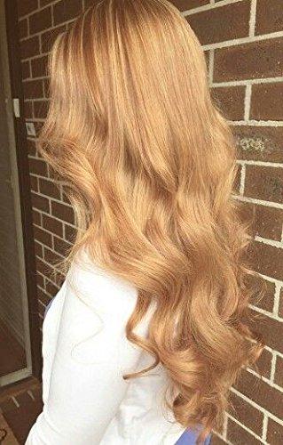 Moresoo 3 Tissage 18 pouces/45cm 300gram Ondule Blond foncé/#27 Humain Tissage Weave Bresilien Extensions de Cheveux 100% Humains Hair Tissage(18+20+22pouces/45cm+50cm+55cm)