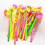 Bolígrafos Drawihi, 12unidades, diseño de plantas con flores, coreanos, creativos, para oficina, de silicona blanda