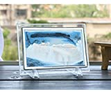 Best Gifts & Decor Glass Desks - Blue Moving Sand Glass Picture Home Office Desk Review