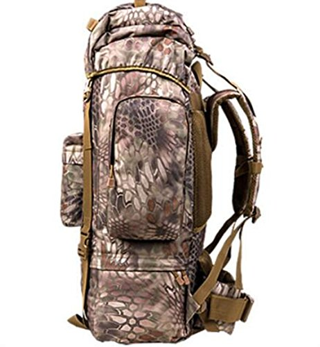 GOUQIN Zaino Outdoor Classico Moda 100L Grande Capacità Di Arrampicata Zaini Borsa Da Viaggio, Camouflage 5 2 camouflage