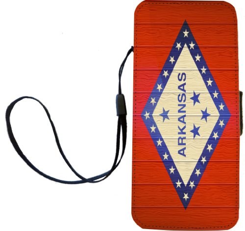 Rikki Knight Arkansas Flagge auf Distressed Holz Flip Wallet iphonecase mit Magnet Klappe für iPhone 5/5S - Arizona Holz Flagge -