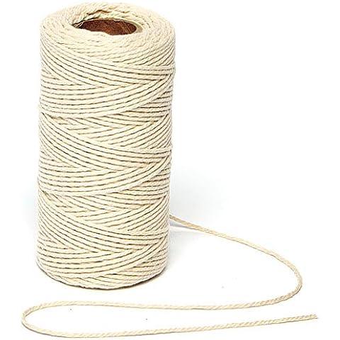 Cordino di Cotone per Lavoretti Creativi e per Realizzare Braccialetti e Collane Fai da Te (Biodegradabile Cotone)
