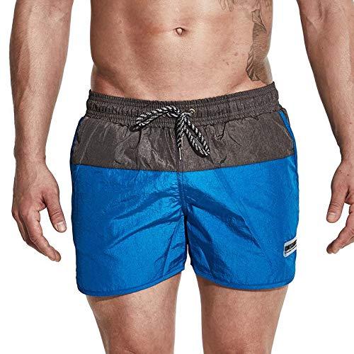 CZYHP Herren-Boardshorts Quick Dry Surfing Beach Herren-Badeshorts Athletic Sport Running Gym Herren-Short-Jogginghose M Blau