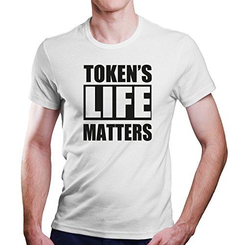 Token´s Life Matters / Black Lifes Matter BLM / Größe XS-4XL / Ideales Geschenk Weiß