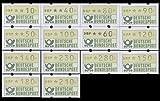 Goldhahn BRD ATM1.1 hu VS1 postfrisch ** 10/40/50/60/80/90/100/120/140/150/180/210/230/280 Pfennig Briefmarken für Sammler