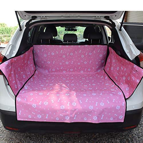 Roblue Autoschondecke und Sitzbedeckung Hund Rücksitz mit Seitenschutz Katze Haustier Autositz Sitzabdeckung Rückbank Autodecke Auto Matte Schwarz (rosa) 155 * 105 * 35cm