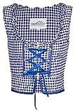 FROHSINN - Damen Trachtenmieder oder Dirndlbluse rot/blau kariert - Trachten Mode (38, Mieder blau)
