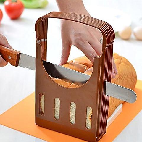 Bluelover Pan corta pan tostado rebanador cortador corte herramienta guía de la cocina