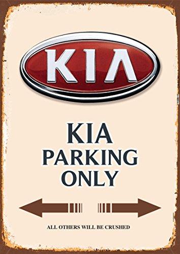 Kia Parking only blechschild
