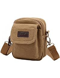 ZeleToile BS-20 mini sacoche peut être attaché sur la ceinture / sacoche bandoulière en toile / sacoche de sport pour homme
