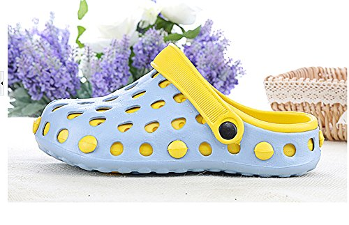 KISS GOLD (TM) Bonbon Couleur Creuser Sandales en Caoutchouc Chaussures Filles Sky Bleu