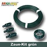 Zaun-Kit mit Ø 2,7mm Spanndraht für 15m Maschendrahtzaun mit vorhandenen Pfosten