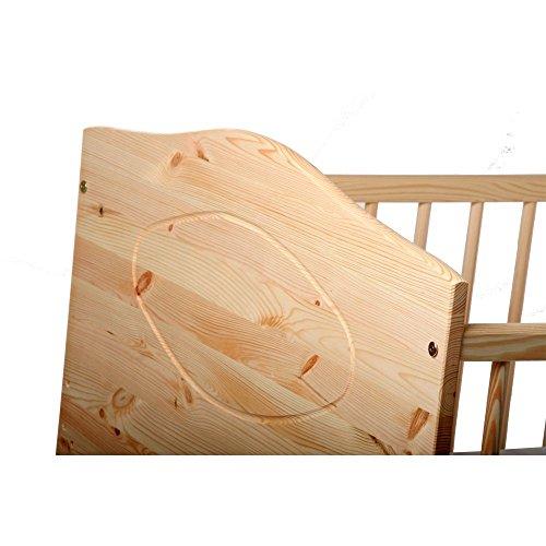 Kinderbett Jugendbett Kuba VOLLMASSIV 140x70 cm - 4