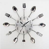 Metal Spoon Fork Kitchen Wall Clock