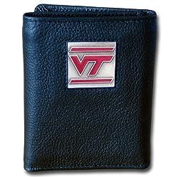 Virginia Tech Hoakies Genuine Leather Tri-fold Wallet